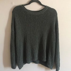 Aerie green knit sweater